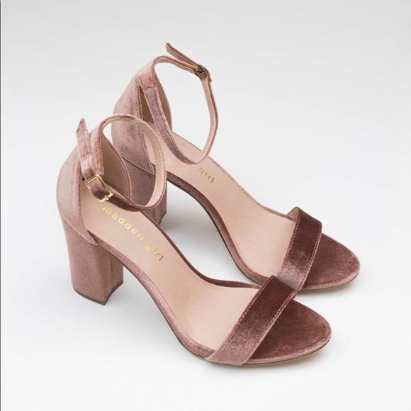 8927d4004f5 Madden Girl Bella Blush Velvet Sandals
